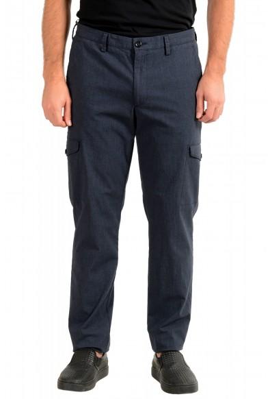 "Hugo Boss Men's ""Kailo-W"" Blue Flat Front Cargo Casual Pants"