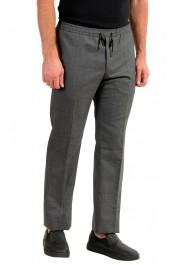"Hugo Boss Men's ""Barne1"" Gray 100% Wool Flat Front Casual Pants: Picture 2"
