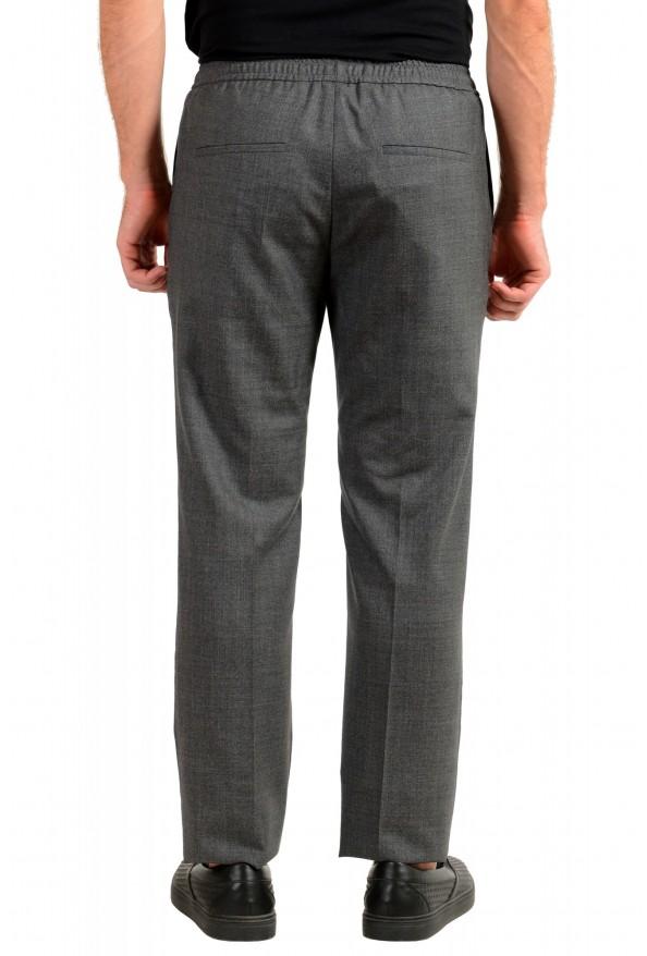"Hugo Boss Men's ""Barne1"" Gray 100% Wool Flat Front Casual Pants: Picture 3"