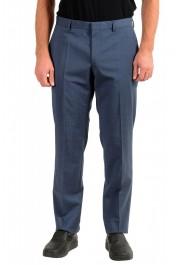 "Hugo Boss Men's ""Genesis4"" Blue Wool Cashmere Flat Front Dress Pants"