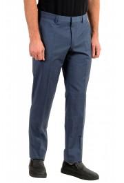 "Hugo Boss Men's ""Genesis4"" Blue Wool Cashmere Flat Front Dress Pants: Picture 2"