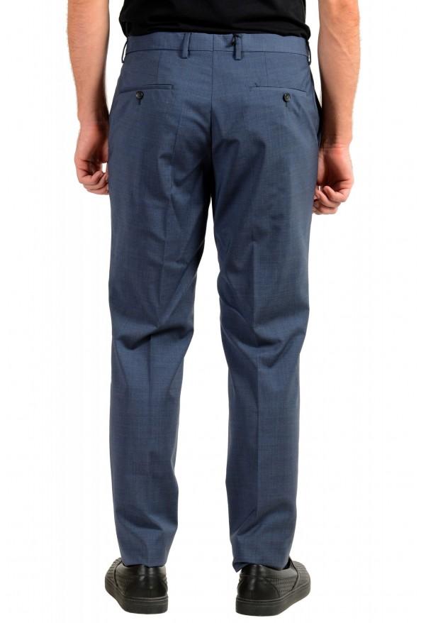 "Hugo Boss Men's ""Genesis4"" Blue Wool Cashmere Flat Front Dress Pants: Picture 3"