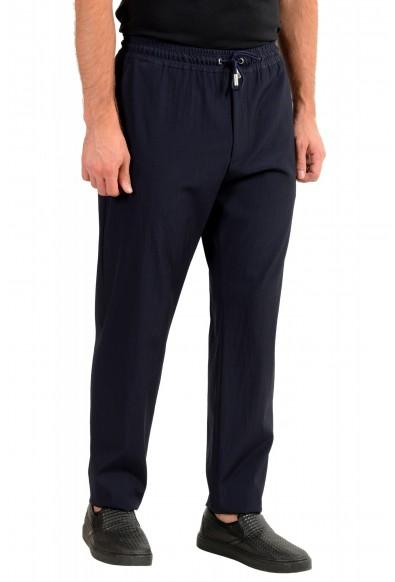"Hugo Boss Men's ""Fox_RW"" Blue Wool Elastic Waist Casual Pants: Picture 2"