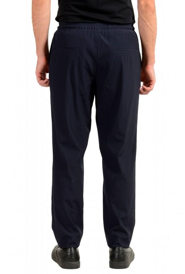 "Hugo Boss Men's ""Fox_RW"" Blue Wool Elastic Waist Casual Pants: Picture 3"