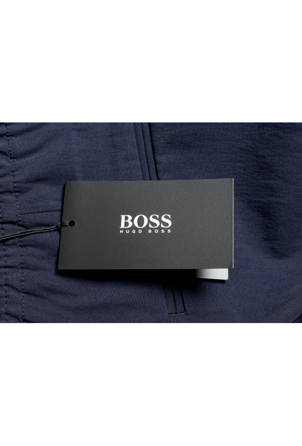 "Hugo Boss Men's ""Fox_RW"" Blue Wool Elastic Waist Casual Pants: Picture 4"
