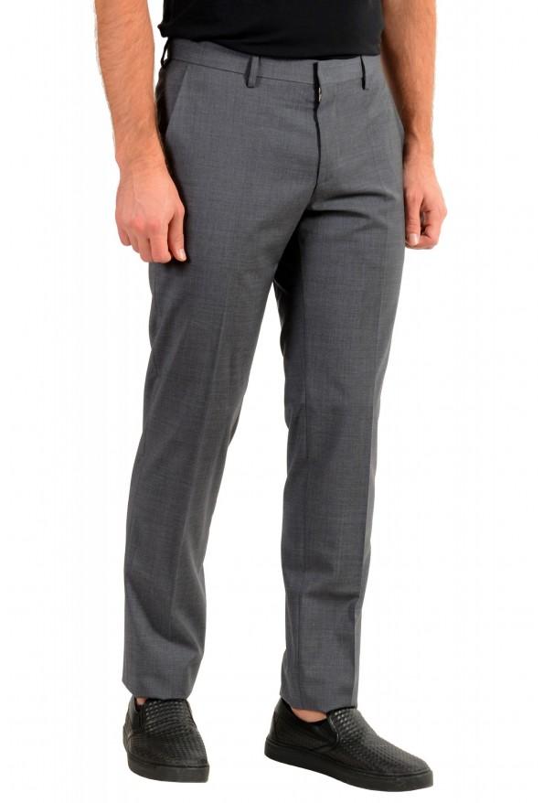 "Hugo Boss Men's ""Genesis4"" Gray Cashmere Wool Flat Front Dress Pants: Picture 2"