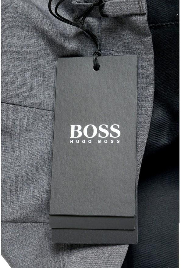 "Hugo Boss Men's ""Genesis4"" Gray Cashmere Wool Flat Front Dress Pants: Picture 4"