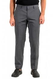 "Hugo Boss Men's ""Genesis4"" Gray Cashmere Wool Flat Front Dress Pants"