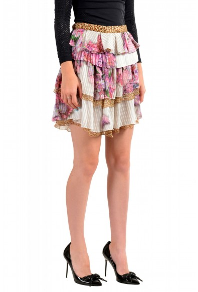 Just Cavalli Women's Multi-Color Ruffled Mini Skirt: Picture 2
