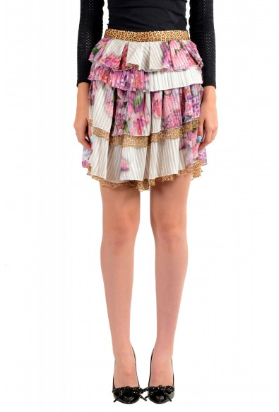 Just Cavalli Women's Multi-Color Ruffled Mini Skirt