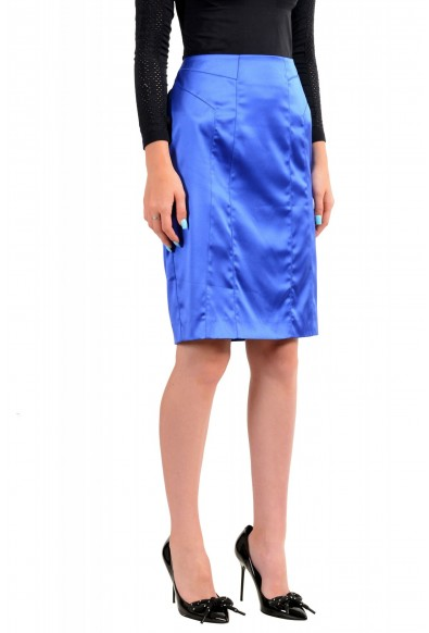 Just Cavalli Women's Bright Blue Straight Pencil Skirt: Picture 2