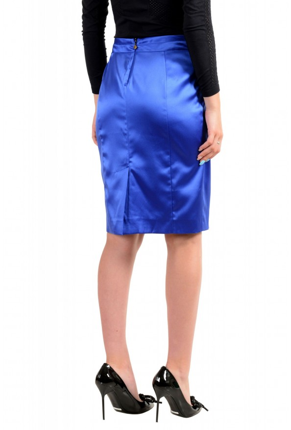 Just Cavalli Women's Bright Blue Straight Pencil Skirt: Picture 3