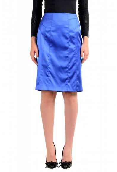 Just Cavalli Women's Bright Blue Straight Pencil Skirt