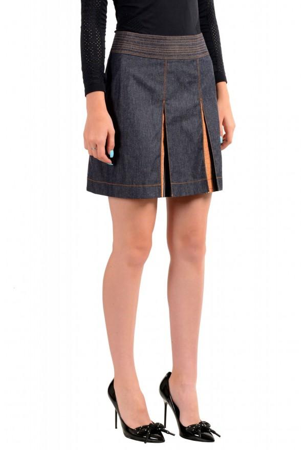 Just Cavalli Women's Denim Pleated Mini Skirt: Picture 2