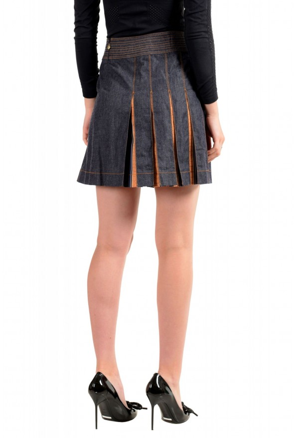 Just Cavalli Women's Denim Pleated Mini Skirt: Picture 3