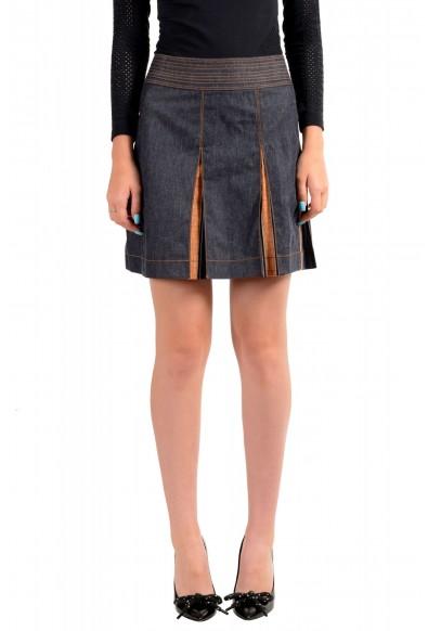 Just Cavalli Women's Denim Pleated Mini Skirt