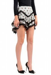 Just Cavalli Women's Asymmetrical Lace Trimmed Mini Skirt: Picture 2