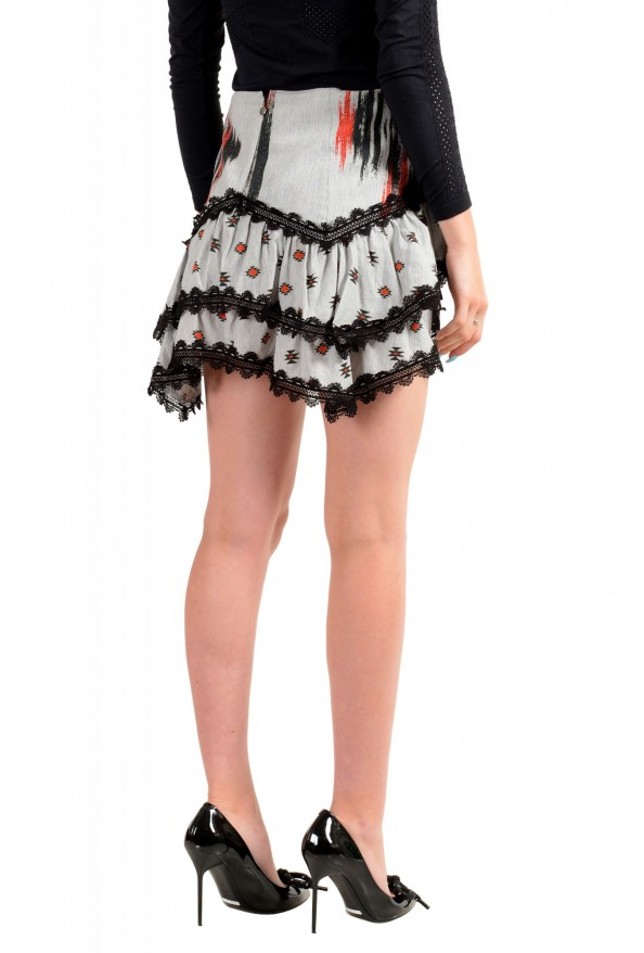 Just Cavalli Women's Asymmetrical Lace Trimmed Mini Skirt: Picture 3