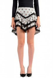 Just Cavalli Women's Asymmetrical Lace Trimmed Mini Skirt