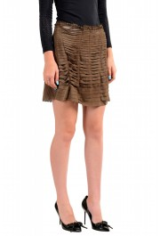 Just Cavalli Women's Suede Leather Perforated Wrap Around Skirt: Picture 2