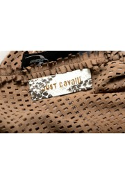 Just Cavalli Women's Suede Leather Perforated Wrap Around Skirt: Picture 5