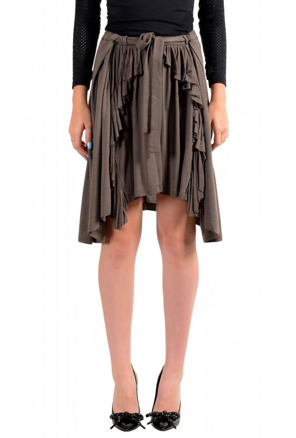 Just Cavalli Women's Asymmetrical Belted Mini Skirt