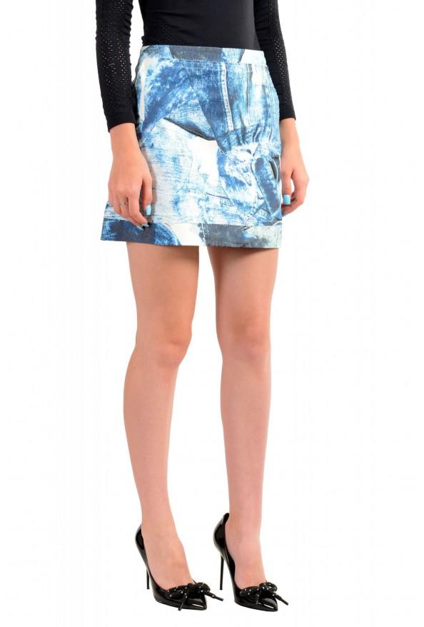 Just Cavalli Women's Blue Graphic Print A-Line Mini Skirt: Picture 2