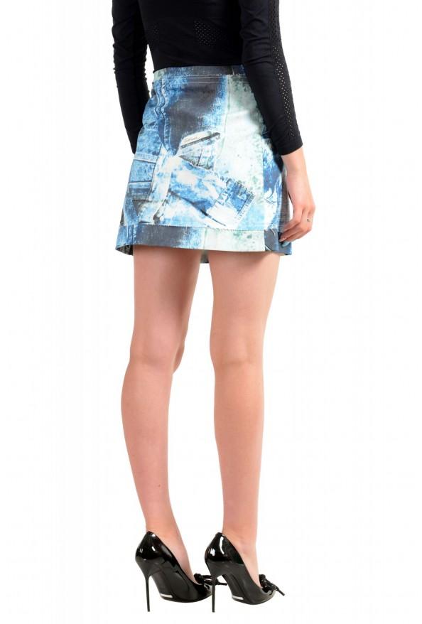 Just Cavalli Women's Blue Graphic Print A-Line Mini Skirt: Picture 3