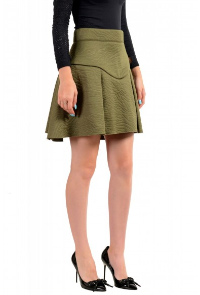 Just Cavalli Women's Olive Green Pleated A-Line Skirt : Picture 2