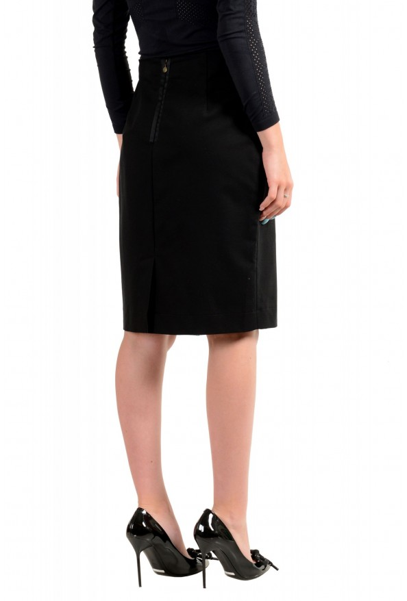 Just Cavalli Women's Black Straight Pencil Skirt: Picture 3