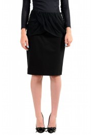 Just Cavalli Women's Black Straight Pencil Skirt