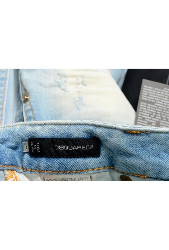Dsquared2 Women's Blue Distressed Denim Mini Skirt: Picture 4