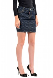 Dsquared2 Women's Dark Blue Denim Pencil Skirt : Picture 2