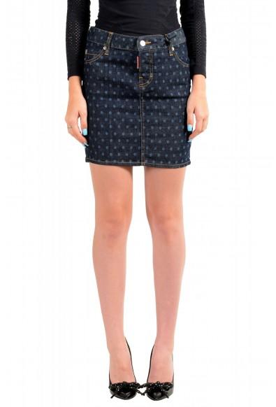 Dsquared2 Women's Dark Blue Denim Pencil Skirt