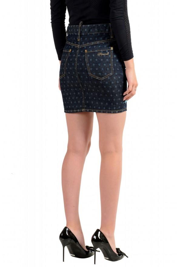 Dsquared2 Women's Dark Blue Denim Pencil Skirt : Picture 3