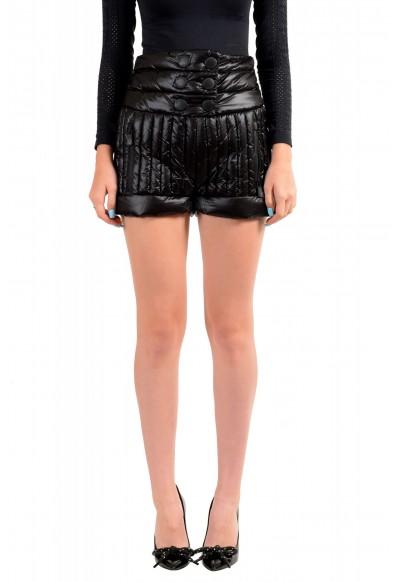 Moncler Women's Black Down insulated Mini Shorts