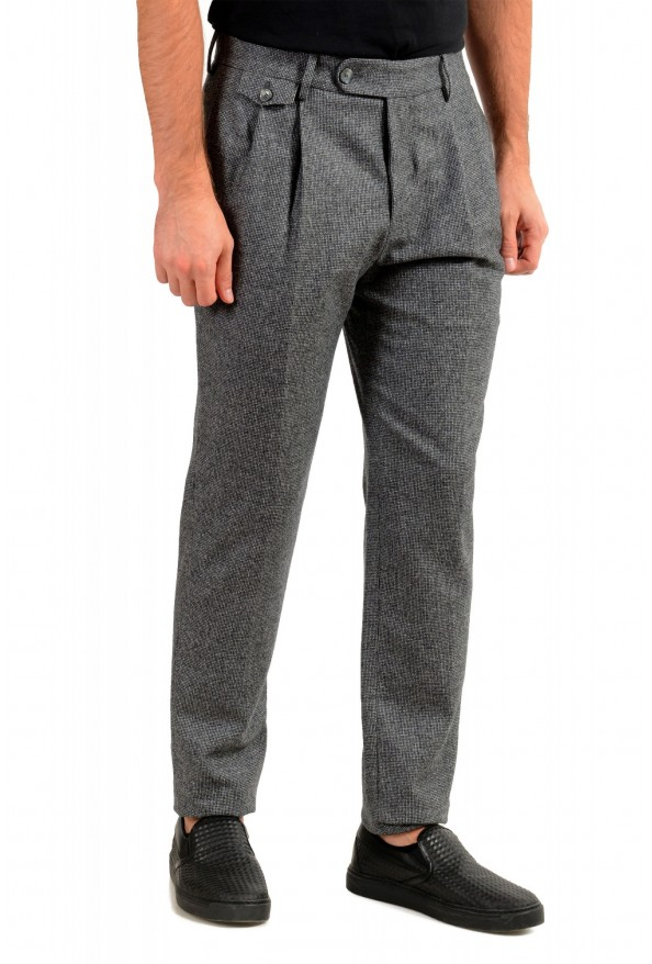 """Hugo Boss Men's """"T-Olan"""" Gray 100% Wool Plaid Pleated Front Pants: Picture 2"""