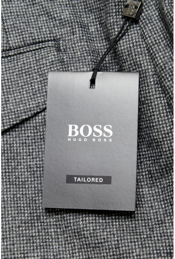 """Hugo Boss Men's """"T-Olan"""" Gray 100% Wool Plaid Pleated Front Pants: Picture 4"""