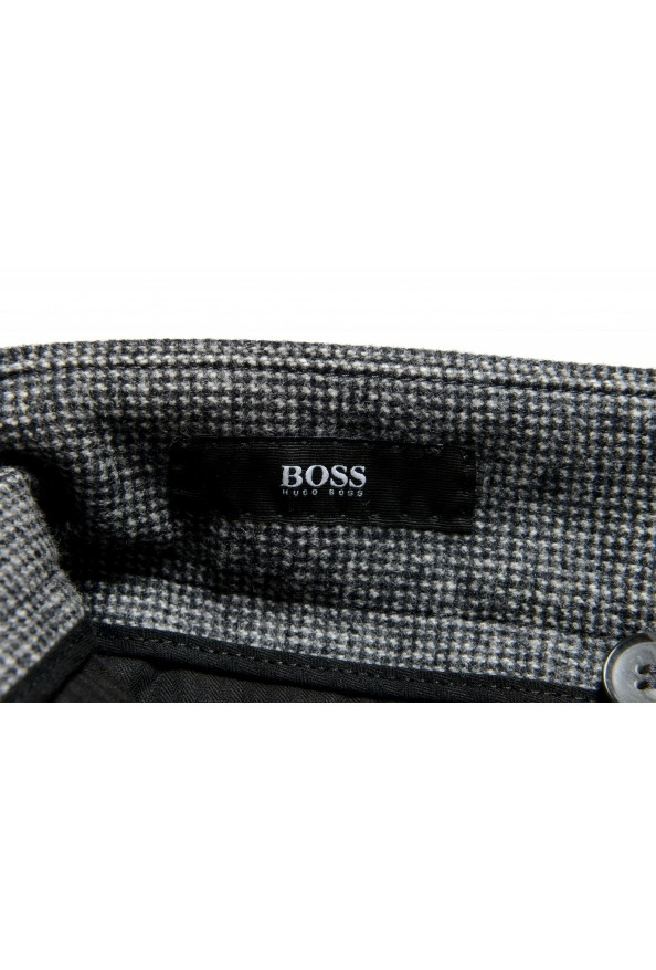 """Hugo Boss Men's """"T-Olan"""" Gray 100% Wool Plaid Pleated Front Pants: Picture 5"""