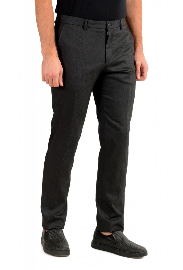 "Hugo Boss Men's ""Garo"" Slim Fit Dark Gray Flat Front Pants: Picture 2"