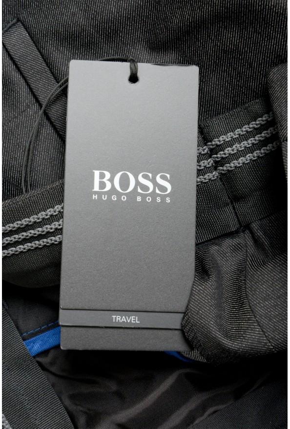 "Hugo Boss Men's ""Garo"" Slim Fit Dark Gray Flat Front Pants: Picture 4"