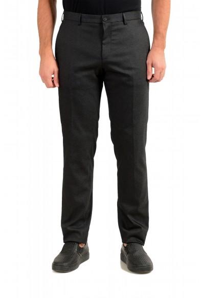 """Hugo Boss Men's """"Garo"""" Slim Fit Dark Gray Flat Front Pants"""