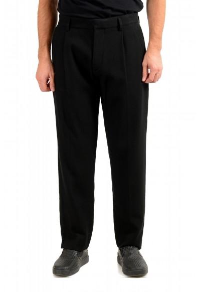 "Hugo Boss Men's ""Parko-Plears-C"" relaxed Fit Black Pleated Pants"