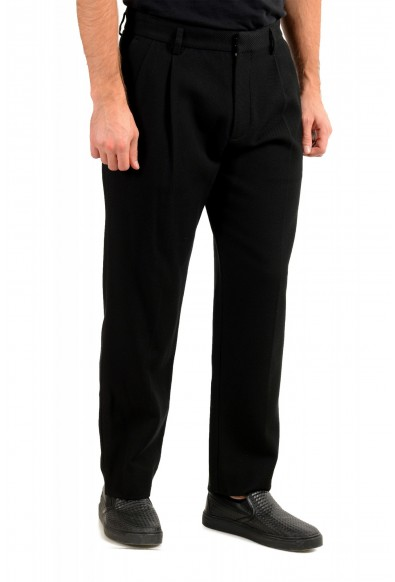 """Hugo Boss Men's """"Parko-Plears-C"""" relaxed Fit Black Pleated Pants: Picture 2"""