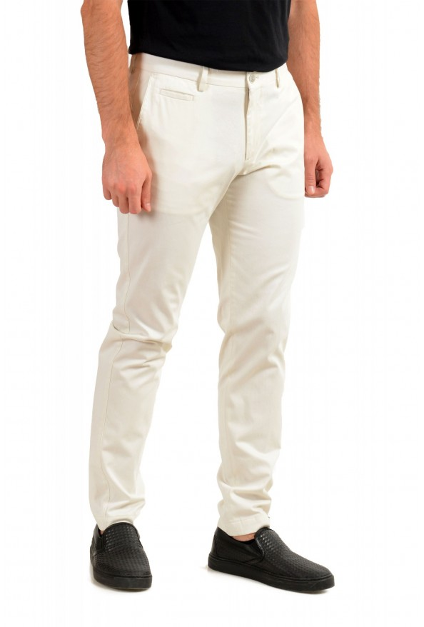 """Hugo Boss Men's """"Broad-W"""" Off White Flat Front Casual Pants: Picture 2"""