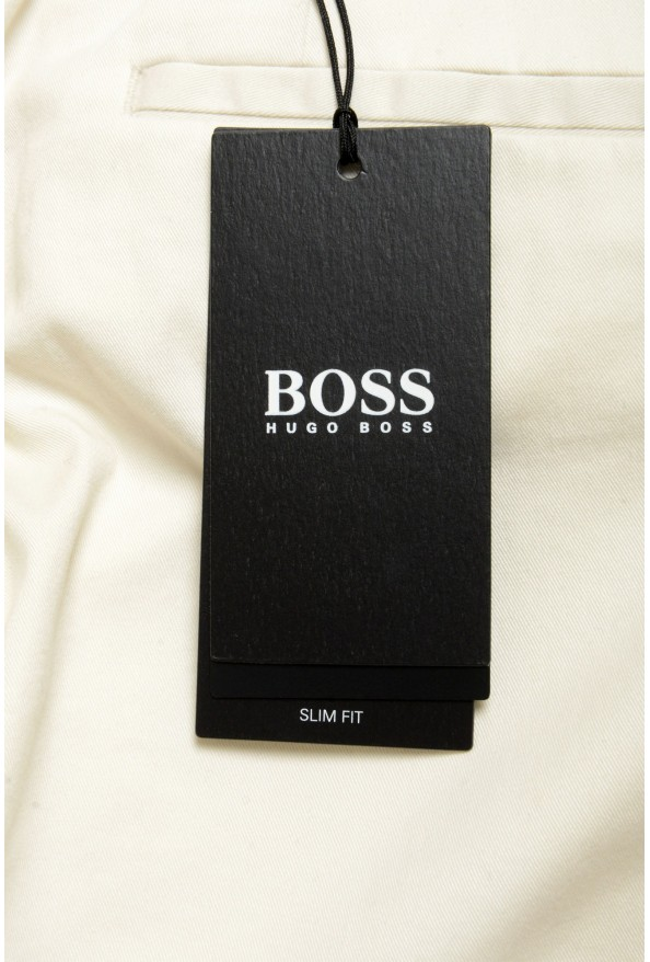 """Hugo Boss Men's """"Broad-W"""" Off White Flat Front Casual Pants: Picture 4"""