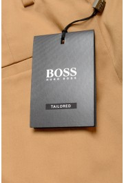 """Hugo Boss Men's """"T-Bryce"""" Tailored Brown Flat Front Casual Pants: Picture 4"""