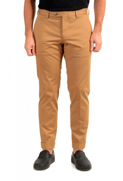"""Hugo Boss Men's """"T-Bryce"""" Tailored Brown Flat Front Casual Pants"""