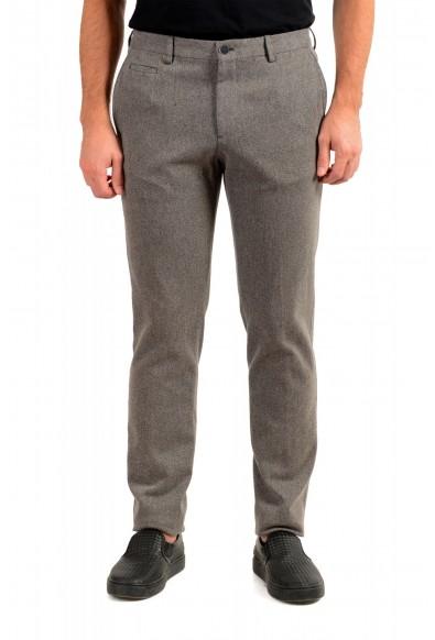 "Hugo Boss Men's ""Broad-W"" Stone Brown Flat Front Casual Pants"