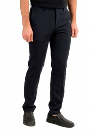 "Hugo Boss Men's ""Ben2"" Slim Fit Blue 100% Wool Dress Pants: Picture 2"